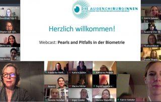 Biometrie-Webcast des Vereins Die Augenchirurginnen